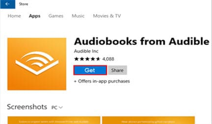 audible app for pc windows 10