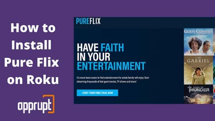 install pure flix on roku