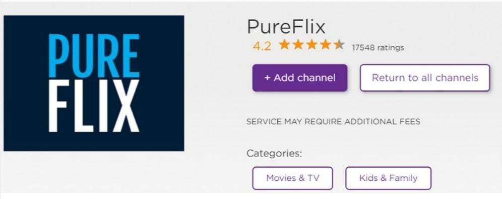add pureflix channel