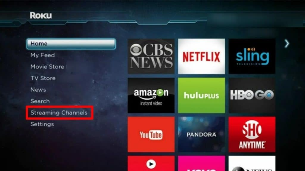 click on streaming channels