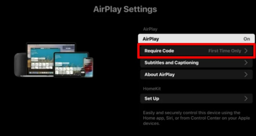 choose require code option