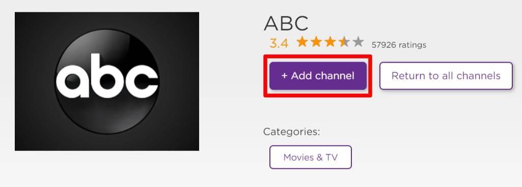 Add ABC channel