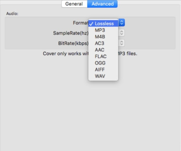 customize the output settings