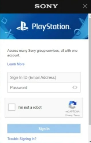 sign in to playstation vue