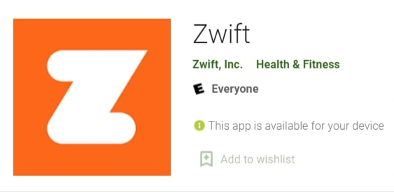 install Zwift app