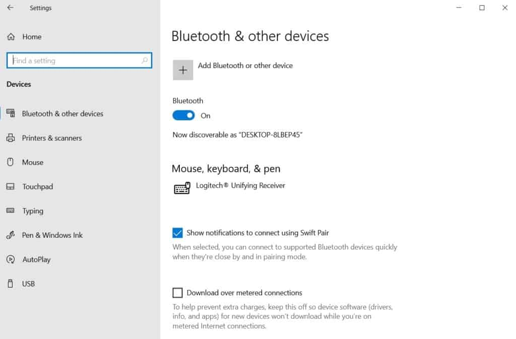 Add Bluetooth or other devices in windows 10