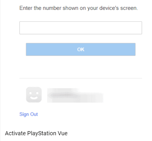 activate playstation vue on roku