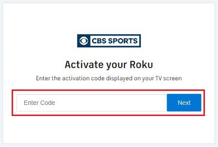 Activate CBS Sports on Roku