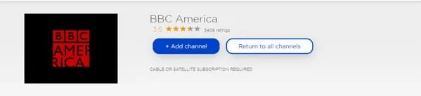 BBC America roku