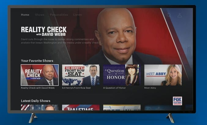 FOX Nation is now streaming on the Roku platform