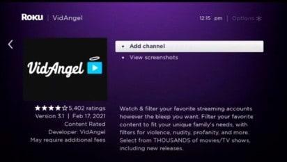 add vidangel channel