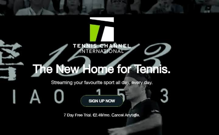 SIGN UP Tennis Channel