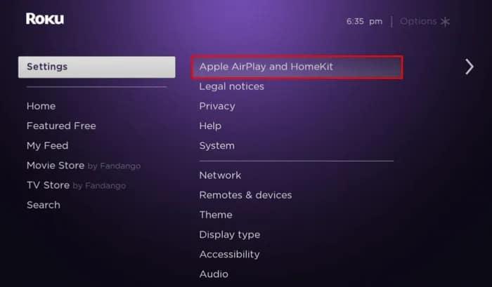 Apple AirPlay and HomeKit