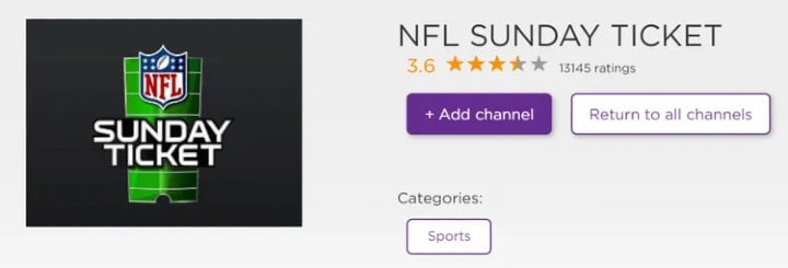 add NFL Sunday Ticket