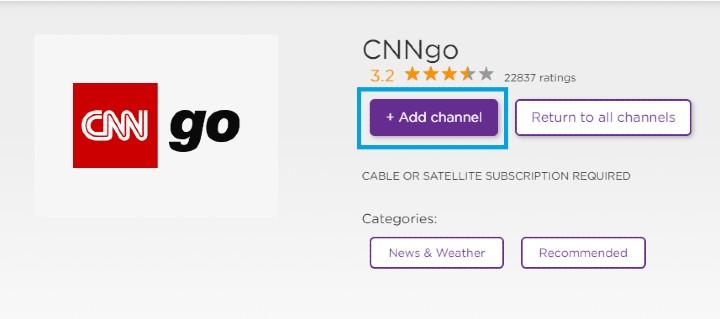 add cnngo channel on roku