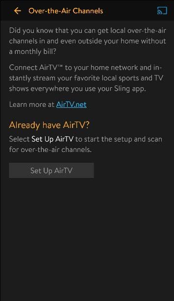 Set Up AirTV