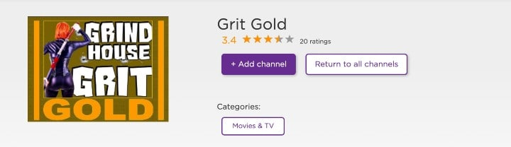 grit gold channel on roku