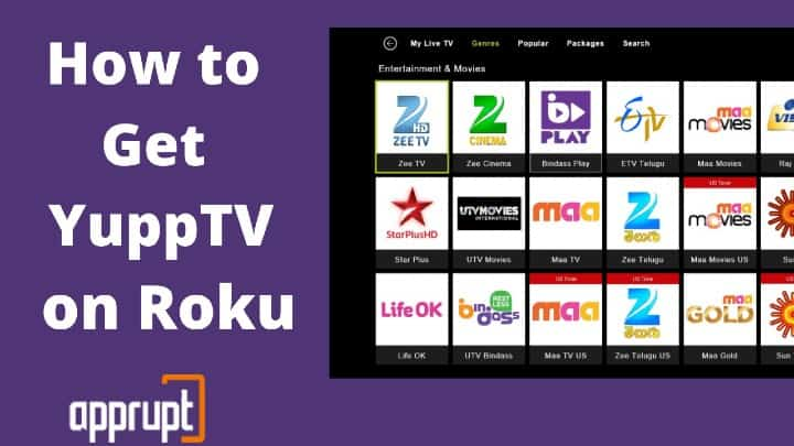 how to watch yupptv free channels on roku