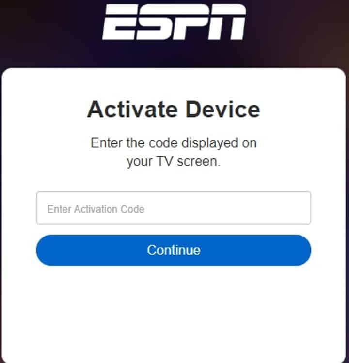 activate espn to watch acc network on roku