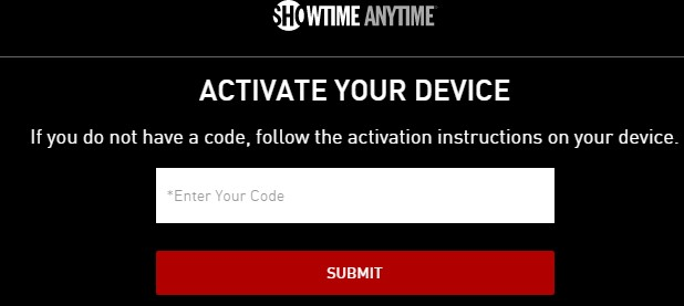 Activate Showtime on Roku