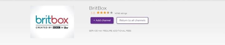 add britbox app on roku