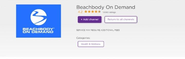 add beachbody on demand channel on roku tv