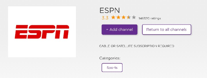 how to get acc network on roku