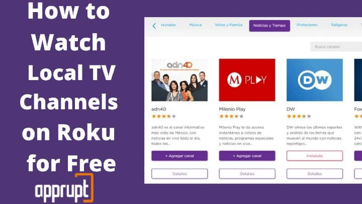 local tv channels on roku