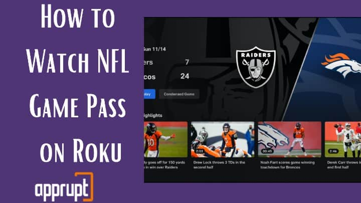 how to watch nfl on roku