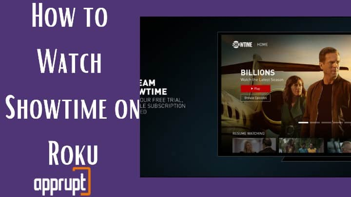 get showtime on roku