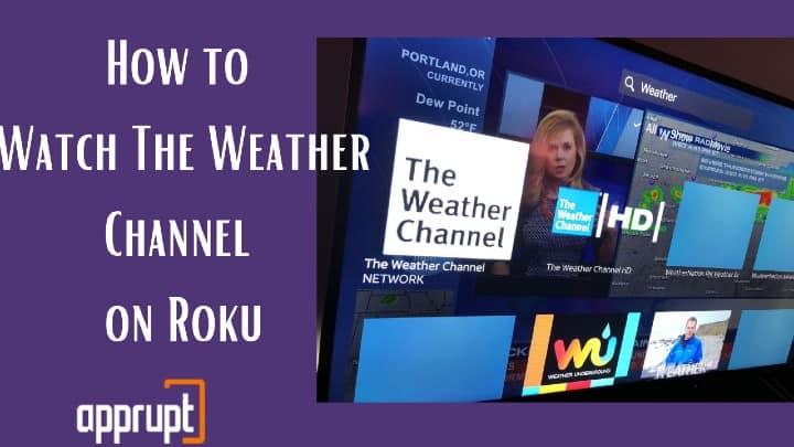 weather channel app roku