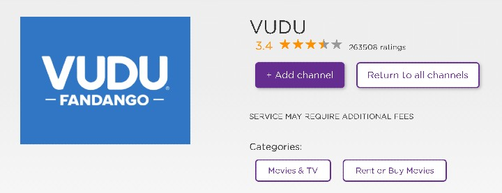 can you get vudu on roku
