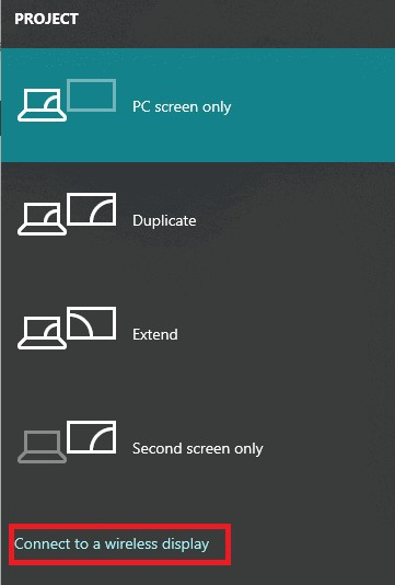 connect to a wireless display