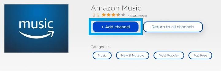 activate amazon music on roku