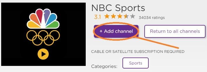 add-nbcsports-channel-on-roku