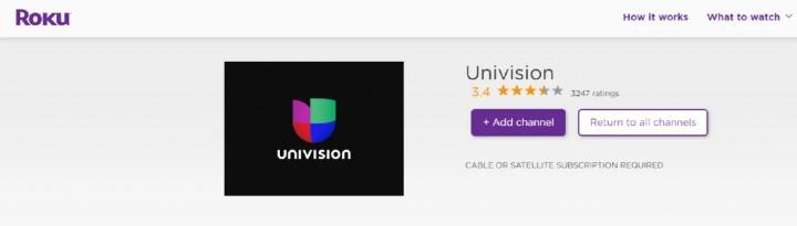 add univision channel