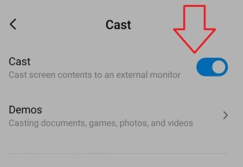 enable cast