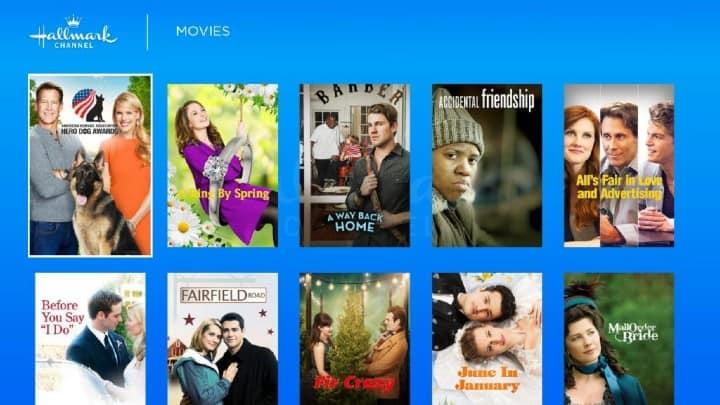 hallmark movie channel on roku