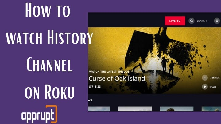 history channel on roku without cable