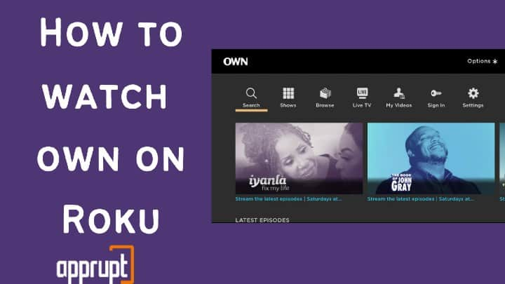 own network on roku