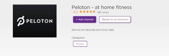 add peloton app on roku